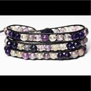 Jewelry - Fluorite triple wrap bracelet